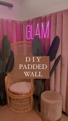 Decor Interior Design, Interior Designing, Upholstered Walls, Padded Wall, Lash Room, Event Themes, Aesthetic Room Decor, Summer Diy, Diy Home Crafts