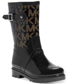 MICHAEL Michael Kors Logo Mid Rainboots - Boots - Shoes - Macy's