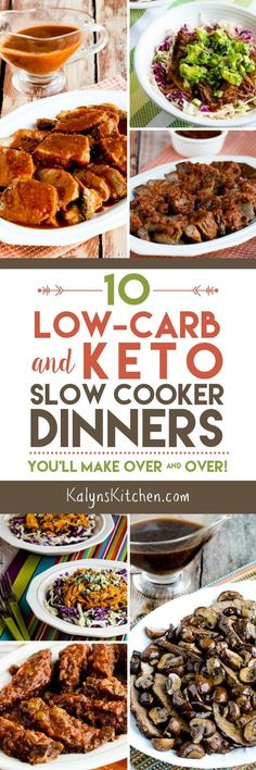 10 Low-Carb and Keto Slow Cooker Dinners You'll Make Over and Over found on KalynsKitchen.com