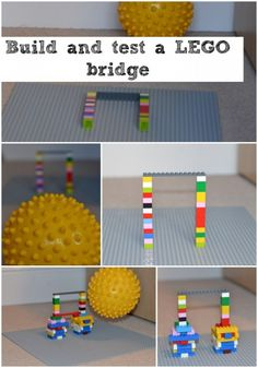 Build and test a LEGO bridge for stability.