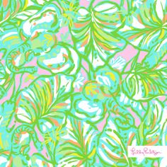 Lilly Pulitzer Elephant Ears Print