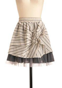 Give Me the Newsprint Skirt