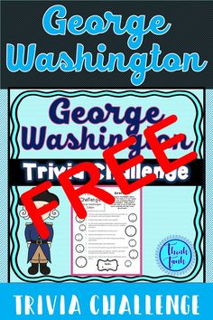 FREE George Washington Trivia Challenge for grades Social Studies Activities, History Activities, Teaching Social Studies, Teaching History, Classroom Activities, Teaching Resources, Teaching Ideas, Middle School Teachers, Elementary Teacher