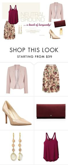 """""""Neutral ground... with a touch of burgundy!"""" by tinita-sjm ❤ liked on Polyvore featuring Jacques Vert, Mother of Pearl, Nine West, Shinola, Panacea, prAna and Tory Burch"""