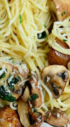 Truffle Oil Pasta and Mushrooms