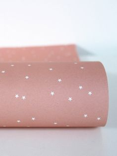 stars pink wrapping paper by Ava & Yves