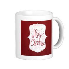 Merry Christmas Holiday Greeting Coffee Mug