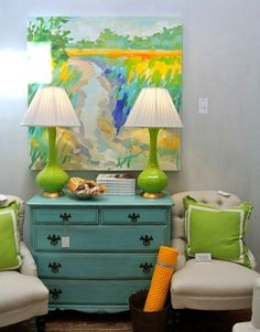Good Life of Design: Are You Ready For Some COLOR In Your Life? #lamps #lighting @Kathy Sue Perdue (Good Life Of Design)