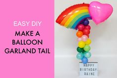 Balloon garland Tail Tutorial Party Hacks, Diy Party, Balloon Garland, Balloons, Balloon Hacks, Party Themes, Party Ideas, Party Suppliers, Pretty Little