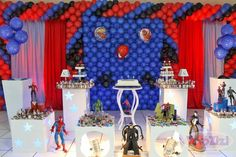 . Balloon Arch, Balloons, Spiderman, Man Party, Table Decorations, Blog, Home Decor, Spider Man Party, Kids Part