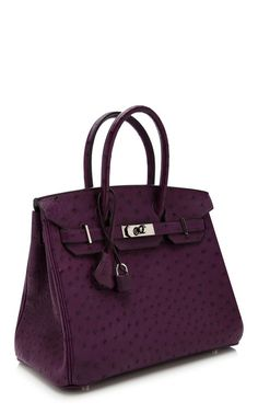 30Cm Hermes Violine Ostrich Birkin by Heritage Auctions Special Collections for Preorder on Moda Operandi