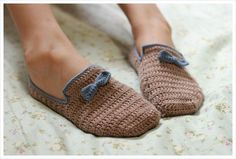 Crochet Slippers by 나무 :: 네이버 블로그 - photo tutorial