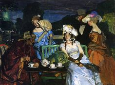 La Mascarade by Lucien Simon [French, 1861-1945]