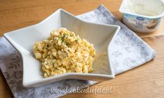 Eiersalade met Hüttenkäse