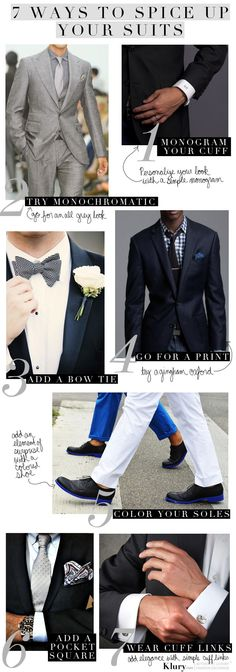 Menswear Monday How To Spice Up Your Suit