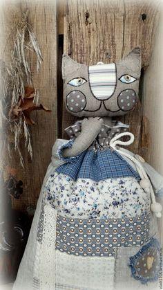 Купить МАХА пакетница в стиле кантри, рустик.. - комбинированный, кошка, кошка игрушка, кошечка, котик