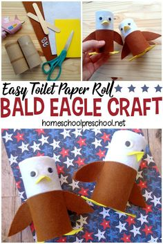 This bald eagle craft combines items you likely have in your craft stash with a focus on our national bird! The perfect of July craft for kids. Patriotic Crafts, July Crafts, Summer Crafts, Projects For Kids, Crafts For Kids, Arts And Crafts, Craft Kids, Project Ideas, Art Projects