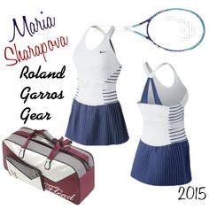 Maria Sharapova | Roland Garros Gear by tennisexpress on Polyvore featuring NIKE