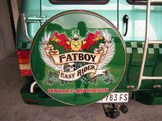 Auto Chevrolet Van & Trailer. Harley-Davidson Fatboy inspired cover by PAZ.