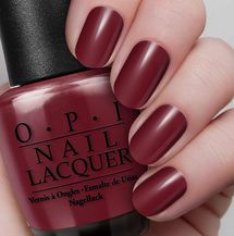 """OPI bang on trend as always with """"Marsala"""" color of the year."""