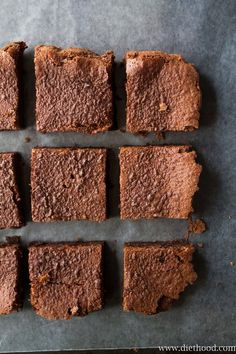 2-Ingredient Nutella Brownies | www.diethood.com | Eggs and Nutella are all you will need to make these delicious brownies | #recipe #dessert #easy #nutella #chocolate #brownies