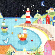 Harbour Lights - Beside The Seaside Cross Stitch Kit from Bothy Threads