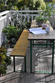 Urban Bloggers Challenge - Balcony - German Beer Table