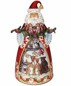 Jim Shore Collectible Figurine, Santa with Woodland Animals