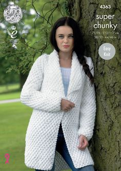 4c39fc554 Ladies White Coat to be made from pattern 4363 in size using King Cole Big  Value Super Chunky to include time and materials. Ladies Cardigan Knitting  ...