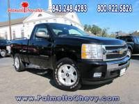 Checkout our Pre-owned vehicle of the day!  CERTIFIED 2011 Chevrolet Silverado 1500 Regular Cab Standard Box 4-Wheel Drive LT  Miles: 13, 870 Exterior: Black Interior: Black  Contact us today for a test drive! www.palmettochevy.com