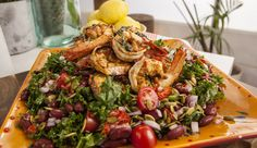 Portuguese Prawn, Bean and Kale Salad | Good Chef Bad Chef