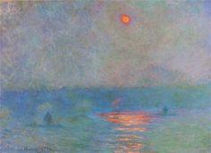 Claude Monet Waterloo Bridge, Sunlight in the Fog 1903