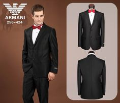 Armani Two Button Suits black 03