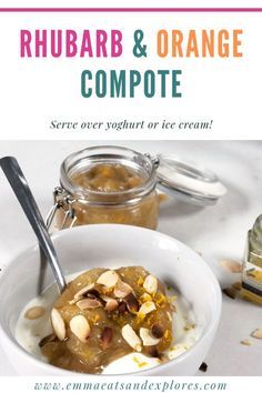 Rhubarb Orange Compote – Emma Eats Rhubarb & Orange compote by Emma Eats & Explores – paleo, grainfree, glutenfree, refined sugarfree, vegetarian Best Dessert Recipes, Fun Desserts, Gluten Free Recipes, Real Food Recipes, Delicious Desserts, Breakfast Recipes, Yummy Food, Healthy Recipes, Drink Recipes