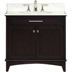 Water Creation MANHATTAN36 Manhattan 36 Wide Single Sink Bathroom Vanity - Vanity Top Included