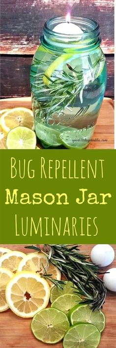 DIY Bug Repellent Mason Jar Luminaries are both gorgeous and extremely effective. Keep those mosquitoes away and spend more time enjoying the outdoors. An amazing mix of essential oils to keep those…MoreMore  #GardeningCrafts