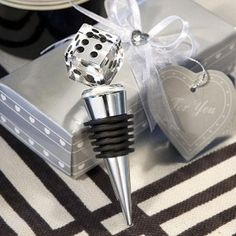 Choice Crystal Die Bottle Stopper Wedding Favors at WeddingFavors.org