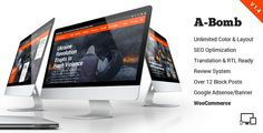 A-Bomb | News & Blog & Magazine Theme . A-Bomb has features such as High Resolution: Yes, Widget Ready: Yes, Compatible Browsers: IE8, IE9, IE10, IE11, Firefox, Safari, Opera, Chrome, Compatible With: WPML, WooCommerce 2.5, WooCommerce 2.4.x, Visual Composer 4.11.2.1, Software Version: WordPress 4.6.1, Columns: 4+