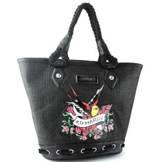 Ed Hardy Rose Bird Victoria Tote Bag Black ... Pretty and very cool.;-$