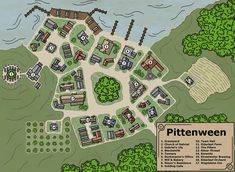 Fantasy City Map, Fantasy World Map, Dnd World Map, Medieval, Village Map, Rpg Map, Dungeon Master's Guide, Map Pictures, Dungeon Maps