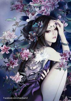 Sexy fantasy art women drawings 26 New Ideas Art Geisha, Geisha Kunst, Geisha Anime, Tattoo Girls, Girl Tattoos, Fantasy Art Women, Fantasy Girl, Film Anime, Anime Fantasy