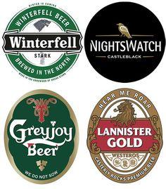 Game of Thrones Ale labels for signage or display beer bottles