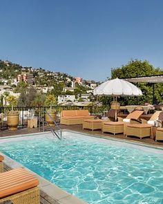 Petit Ermitage Hotel - West Hollywood, California. The rooftop where we got engaged.