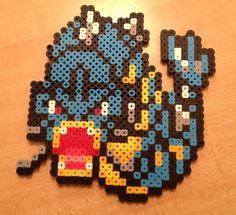 Items similar to Gyarados Pokemon Perler Bead Magnet/Ornament on Etsy Hama Beads Pokemon, 3d Pokemon, Pokemon Craft, Pikachu, Pokemon Ornaments, Melty Bead Patterns, Perler Patterns, Beading Patterns, Pokemon Cross Stitch