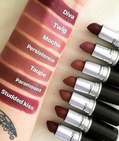 52 Amazing mac lipstick shades that you should own - cremesheen, mattes ,retro matte ,nude mac lipstick - Makeup Tips Makeup Forever Powder, Makeup Forever Lipstick, Makeup Forever Foundation, Makeup Lipstick, Lipstick For Fair Skin, Fall Lipstick, Brown Lipstick Shades, Mac Lipstick Colors, Mac Lipsticks