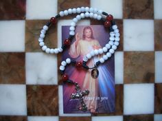 Chaplet of The Divine Mercy by ThingsThenThingsNow on Etsy, $13.55
