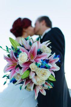 love the blue flowers... Bouquet. Guarda altre immagini di bouquet sposa: http://www.matrimonio.it/collezioni/bouquet/3__cat