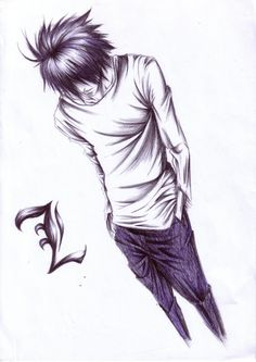 Tags: DEATH NOTE, L Lawliet, Sketch, Artist Request