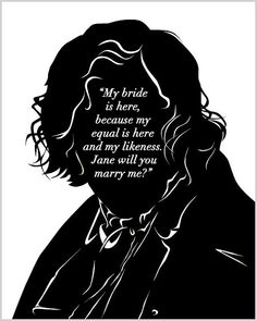 Mr Rochester Proposal Art Print - Bookish - Book Lovers - Book Geek - Charlotte…