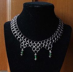 Game of Thrones Chainmail Necklace Green Crystal Steampunk Renaissance Cosplay | eBay
